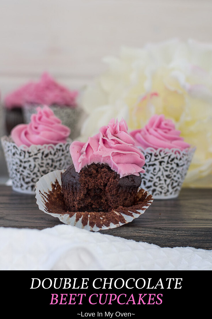 Double Chocolate Beet Cupcakes