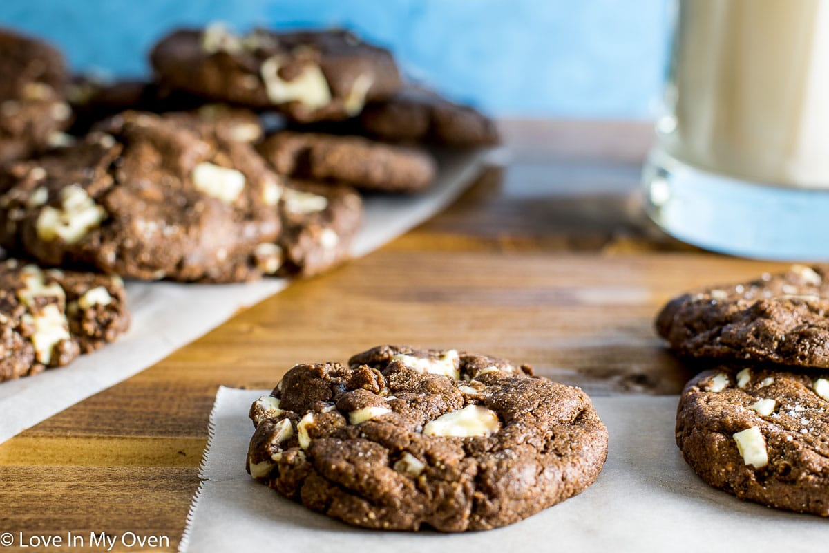 White Chocolate Chunk Almond Butter Cookies | Love In My Oven