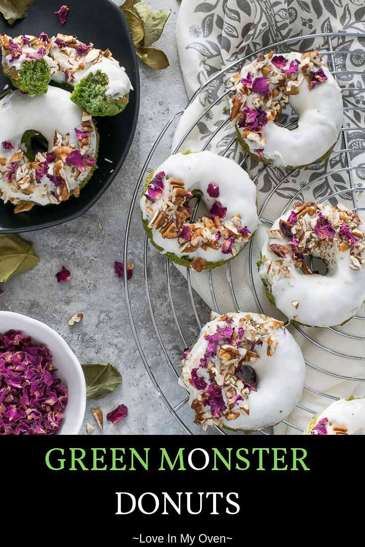 Green Monster Baked Donuts