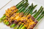 proscitto wrapped asparagus bundles