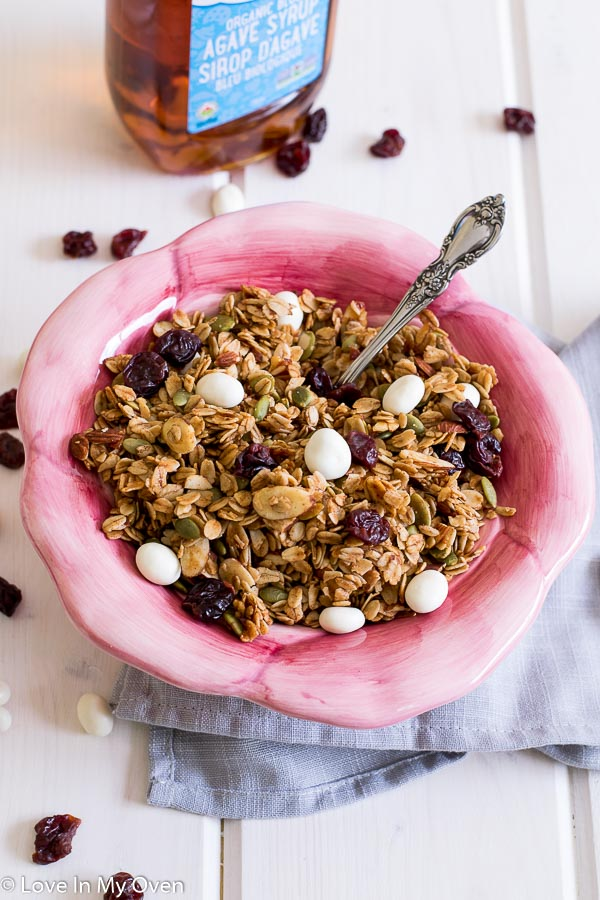 cherry almond granola agave syrup