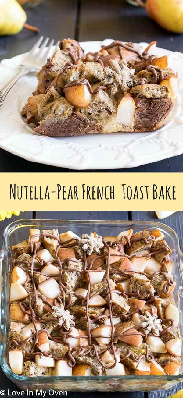 nutella pear bake