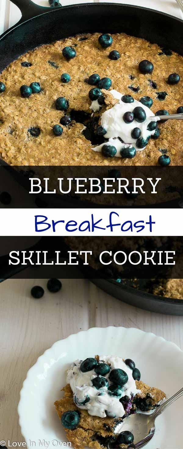 Blueberry Breakfast Skillet Cookie