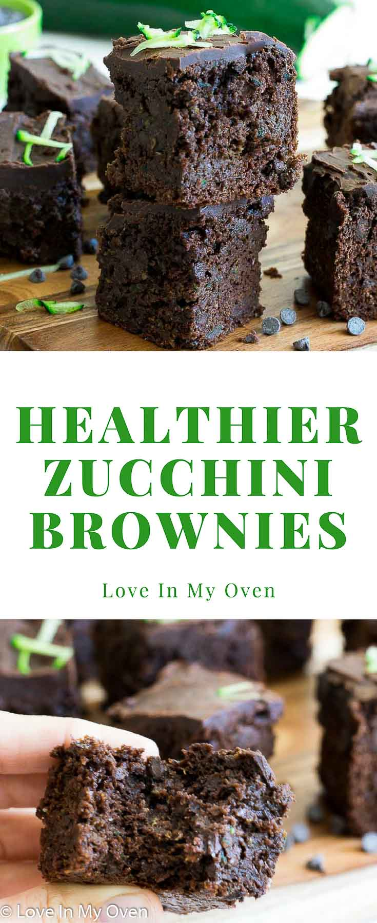Healthy Double Chocolate Zucchini Brownies