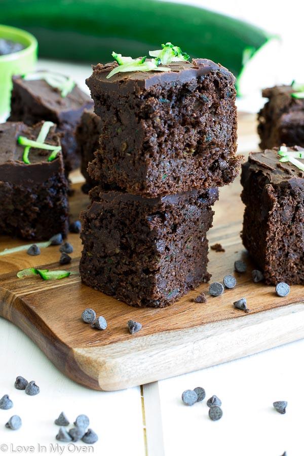 healthier zucchini brownies