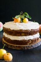 salted caramel apple cake