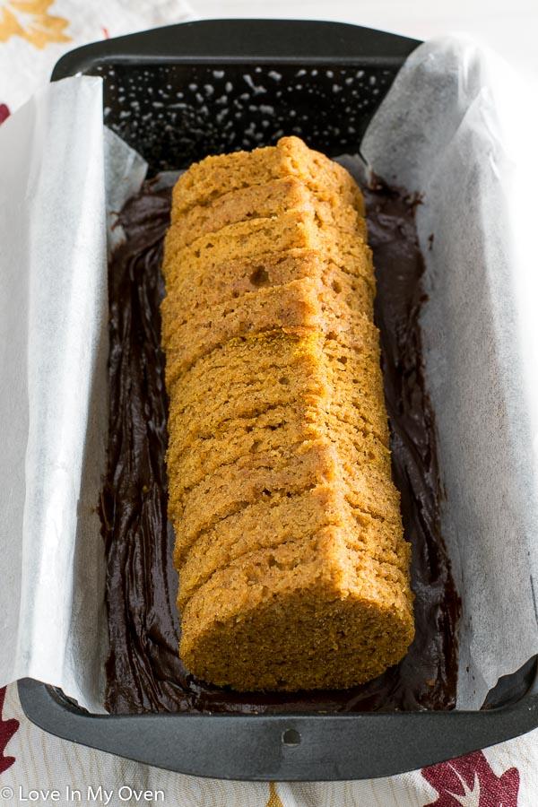 Peekaboo Pumpkin-Chocolate Loaf