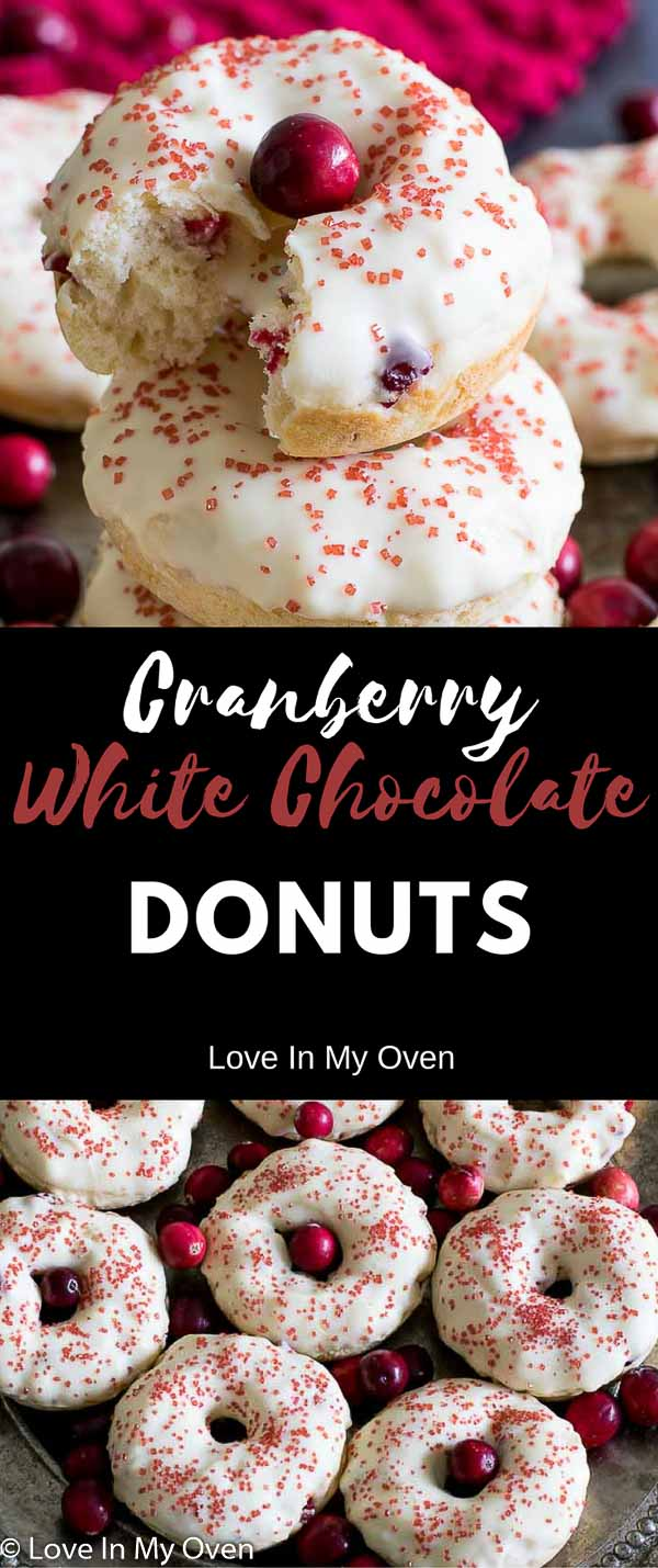 cranberry white chocolate donuts