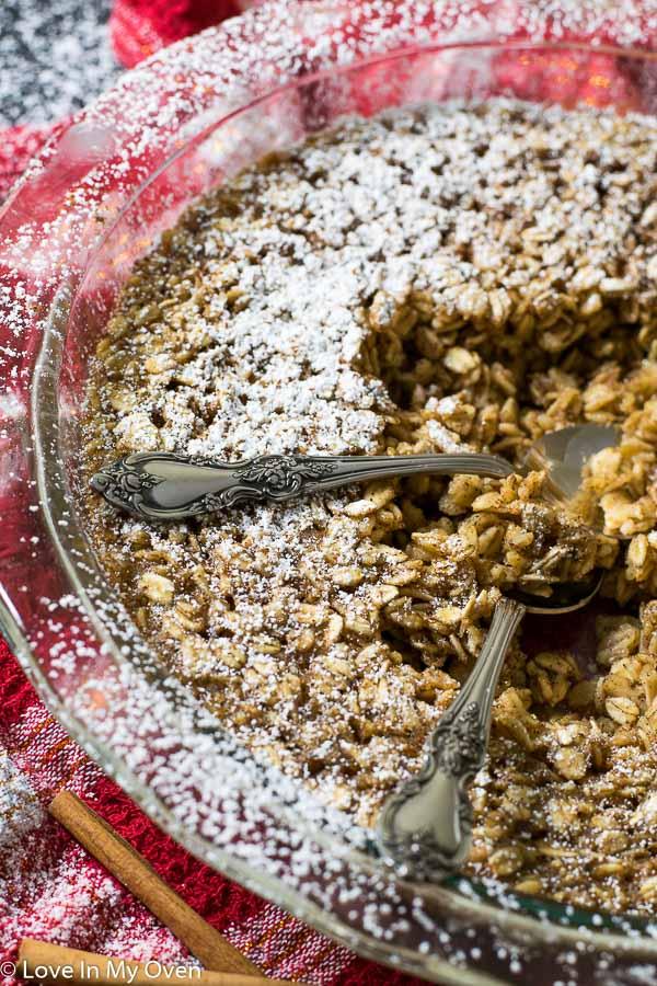 eggnog baked oatmeal