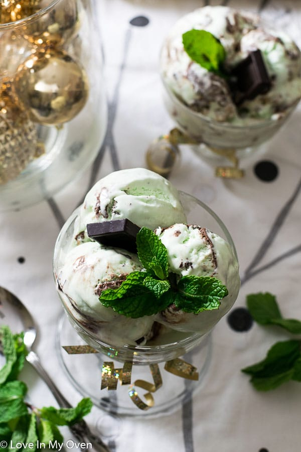 Real Mint Chocolate No Churn Ice Cream