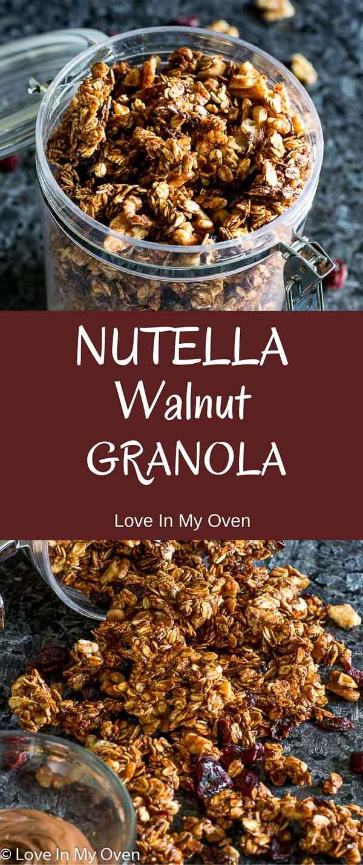 nutella walnut granola