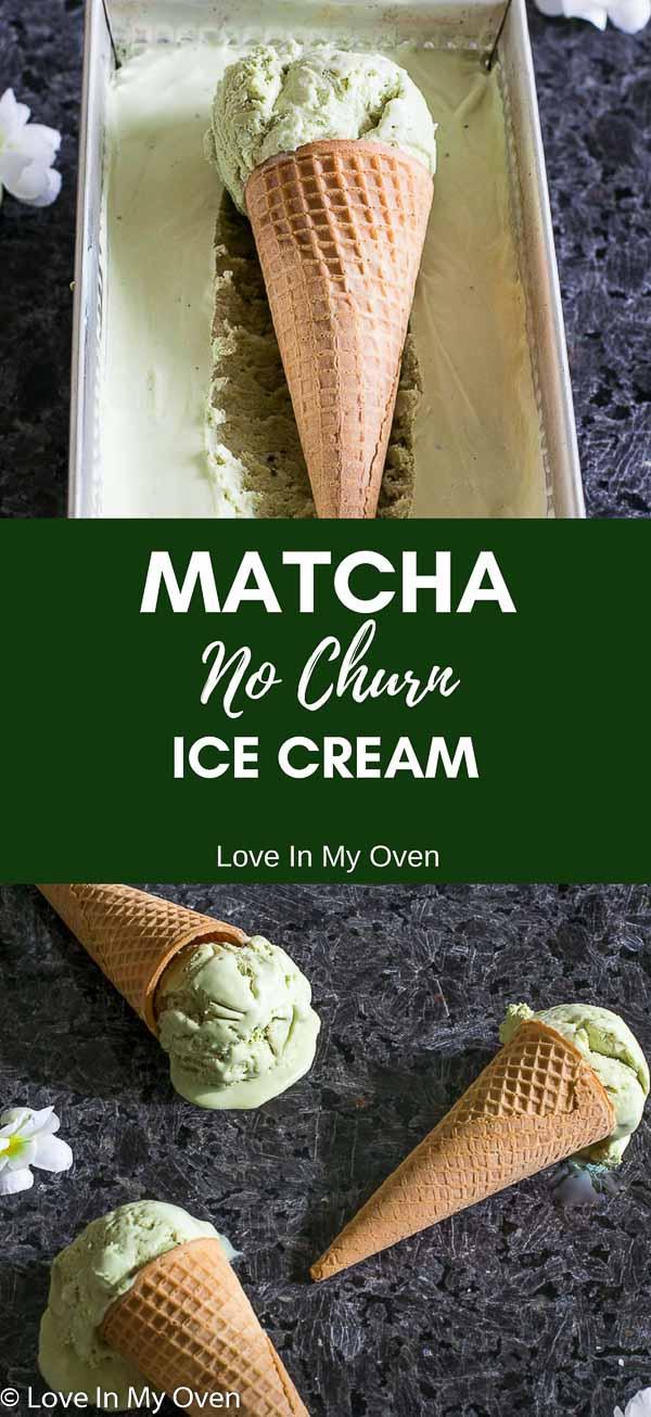 matcha no churn ice cream