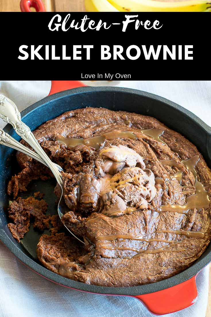 This fudgy, chocolatey, skillet brownie is almost too good to be true! Gluten-free, clean eating and baked in under 15 minutes. What more could you want!?
