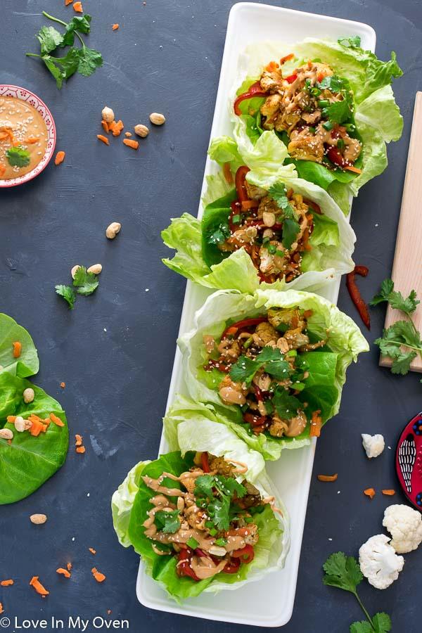 Thai Cauliflower Lettuce Wraps