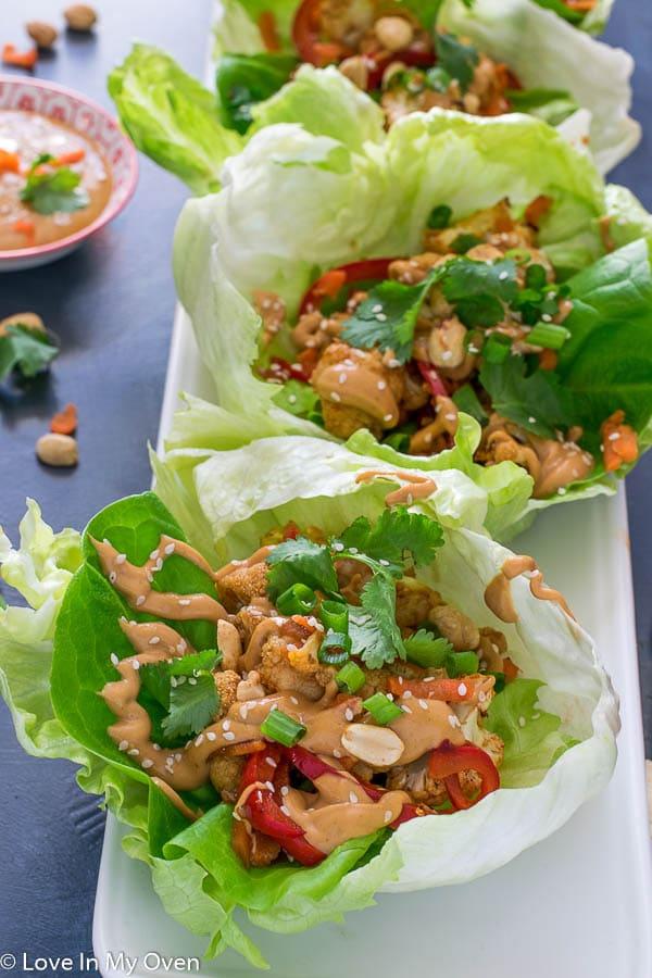 Thai Cauliflower Lettuce Wraps-5