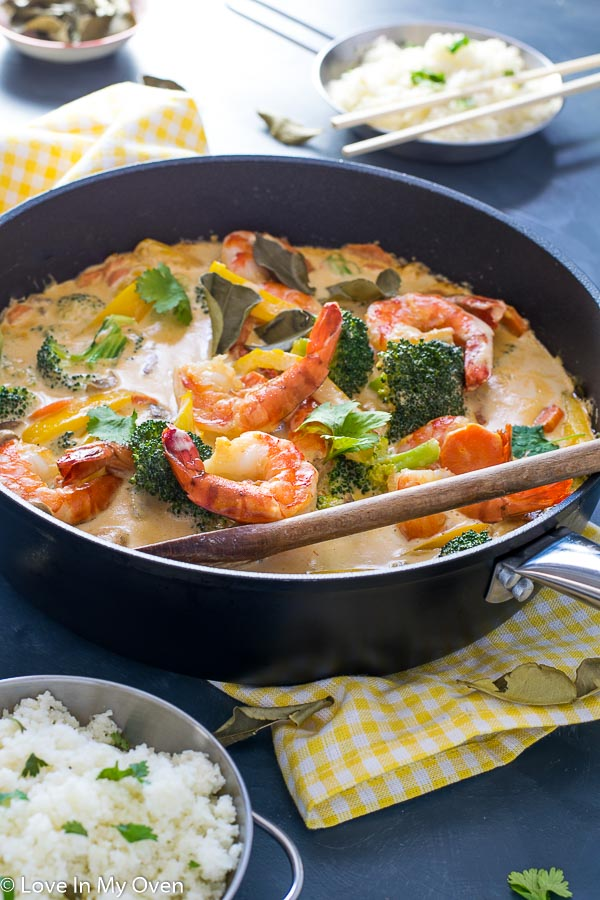 red thai prawn curry