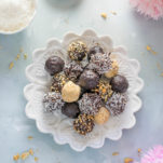 no-bake chocolate coocnut balls