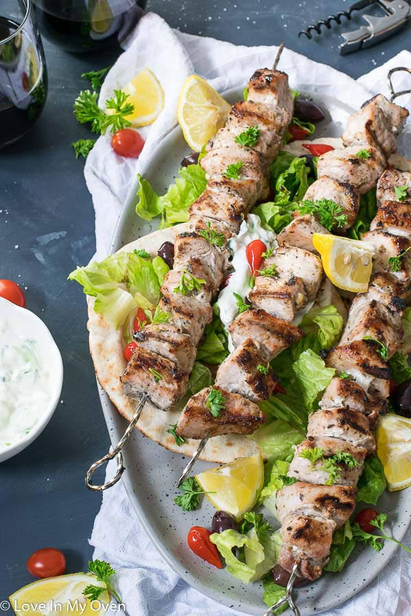 pork souvlaki skewers