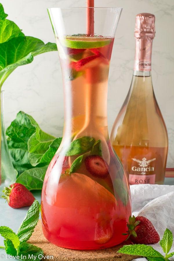 rhubarb rose sangria