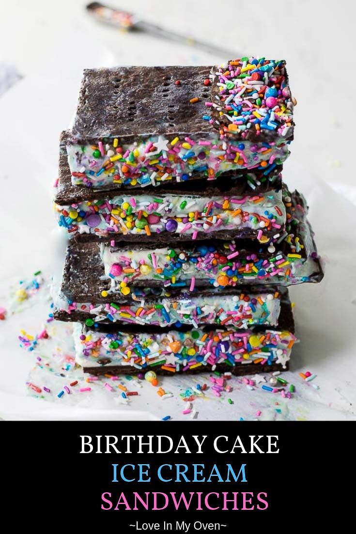 Birthday Cake Ice Cream Sandwiches