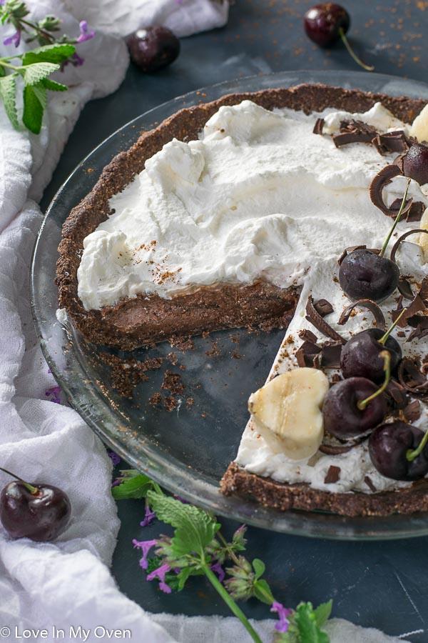 chocolate nice cream pie