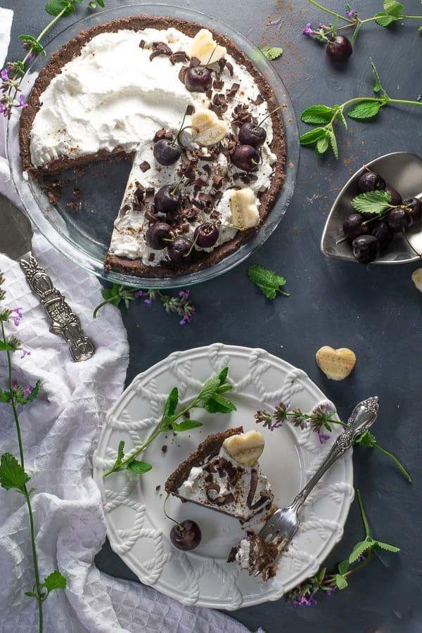Chocolate Nice Cream Pie | Love In My Oven