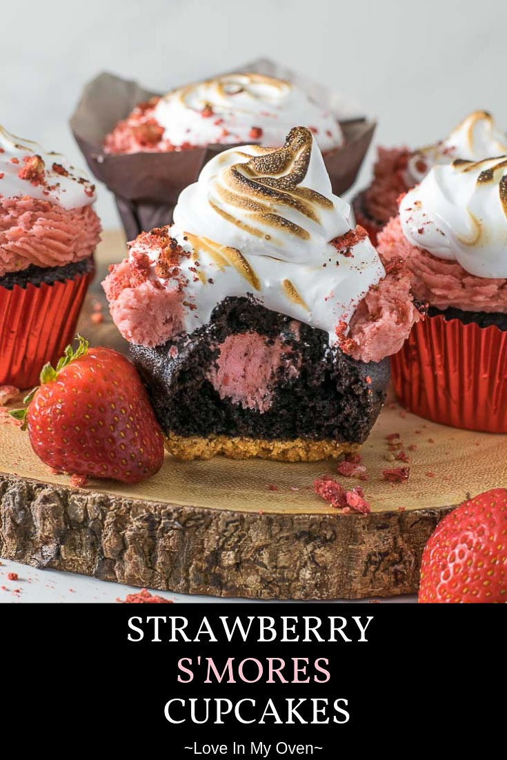 Strawberry S\'mores Cupcakes