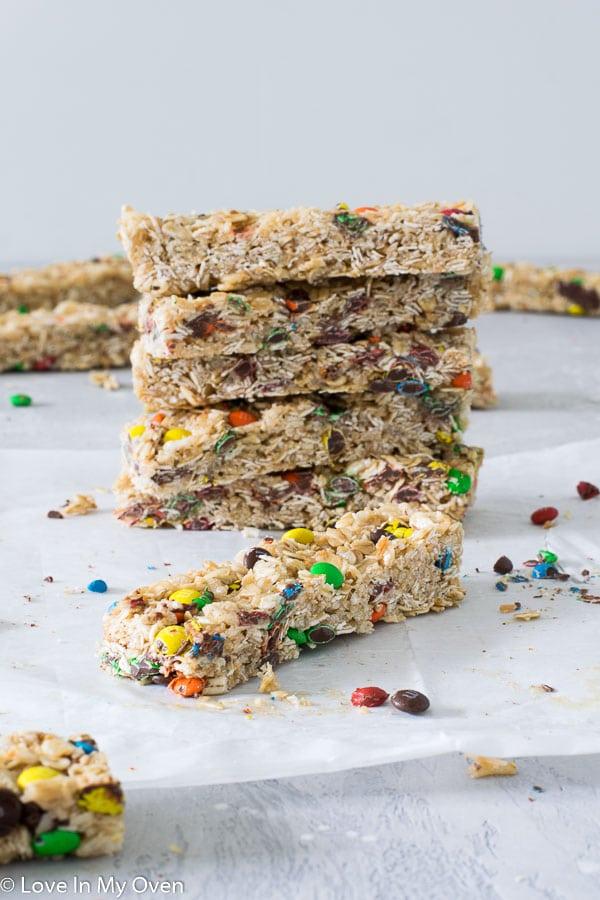 m&m granola bars