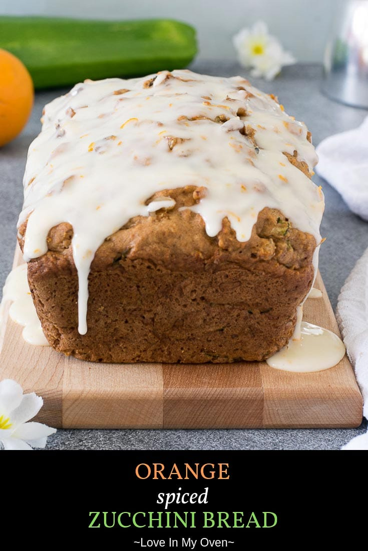 Add a little spice, a few crunchy walnuts and you\'ve got yourself one heck of an orange zucchini bread! An amazing way to use up fresh zucchini, try this orange zucchini bread recipe today! // orange zucchini bread // zucchini loaf // orange zucchini bread recipe