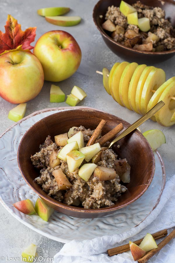 crockpot apple cinnamon oatmeal