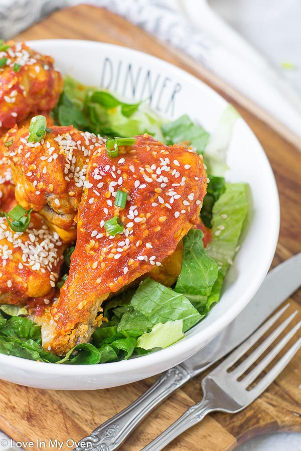 honey sriracha chicken drumsticks