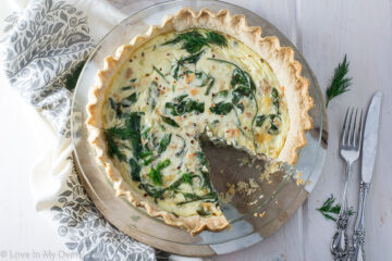 salmon spinach quiche