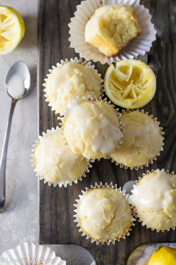 glazed lemon muffins