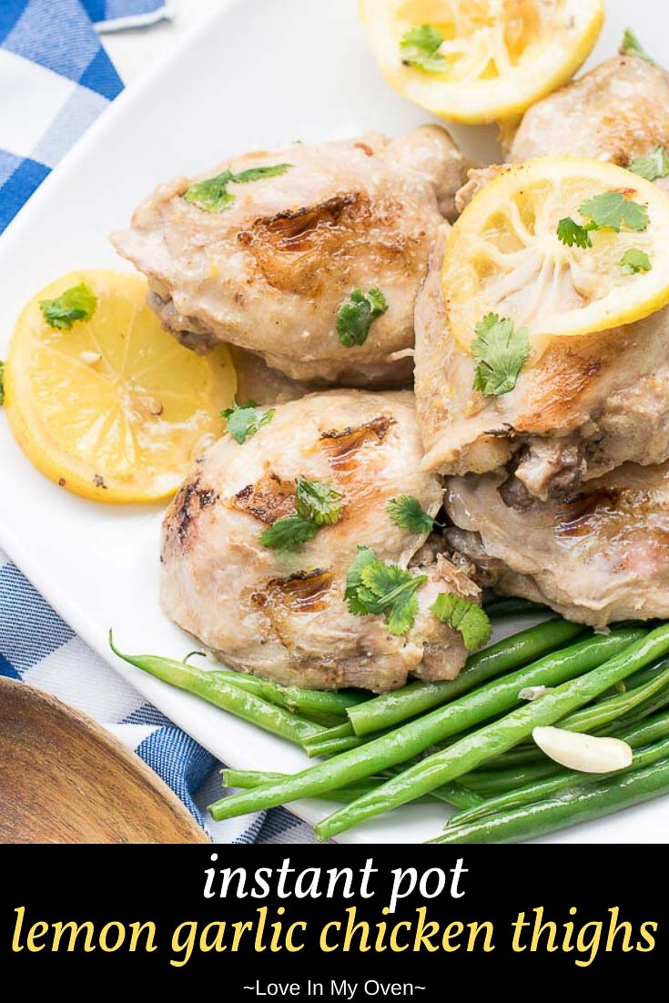 Instant Pot Lemon Garlic Chicken Thighs