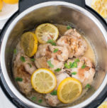 Instant Pot Lemon Garlic Chicken Thighs