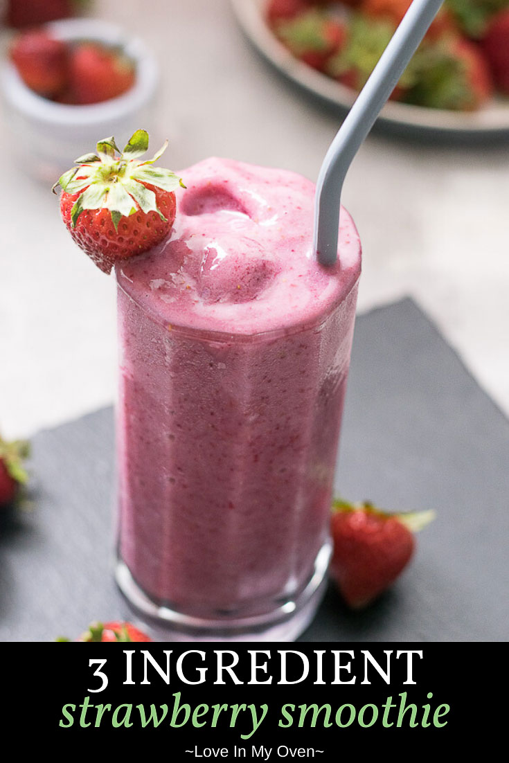 3 Ingredient Strawberry Smoothie