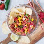 strawberry rhubrab salsa