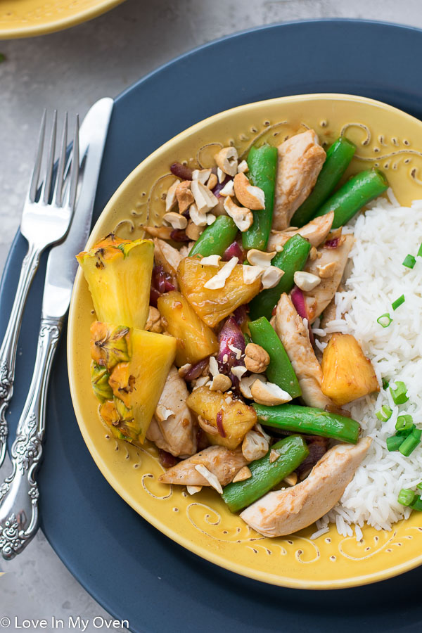 chicken and pineapple stir fry