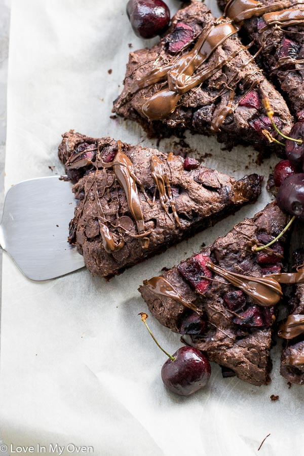 chocolate cherry scones