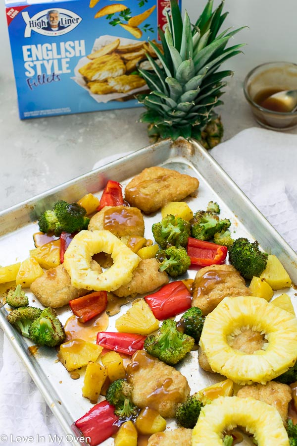 teriyaki-style sheet pan meal